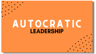 Autocratic Leadership Flexi Card with Shadow