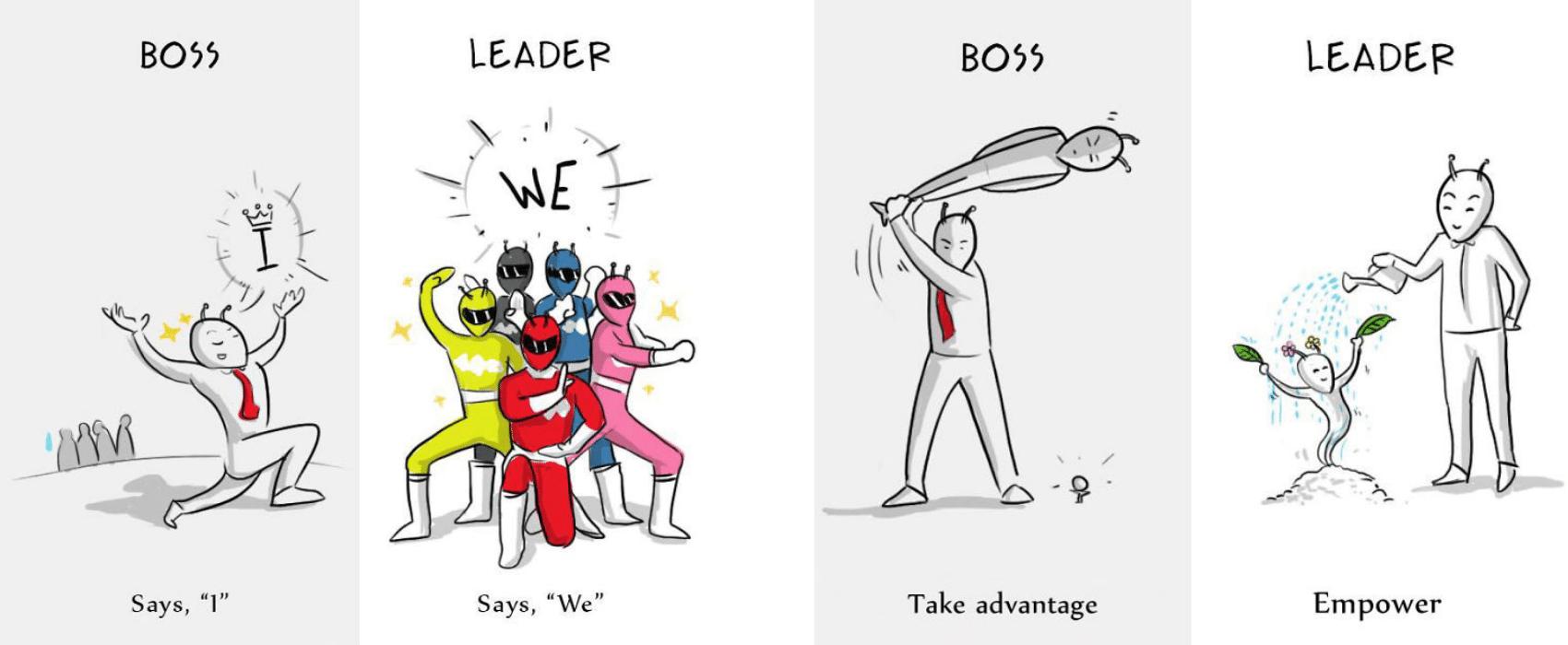 Boss vs Leader Comics from Yukbisnis