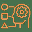 CRITICAL THINKING AND DECISION-MAKING Icon Orange