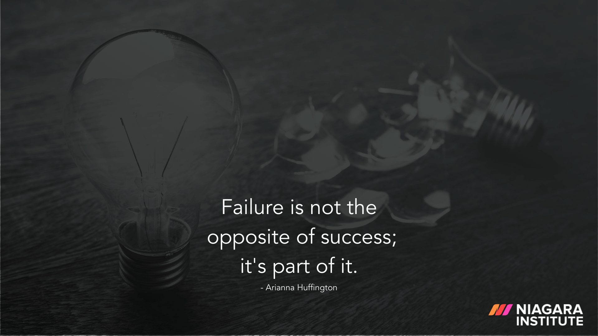 Failure is not the opposite of success; it's part of success - Arianna Huffington
