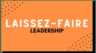 Laissez-Faire Leadership Flexi Card with shadow