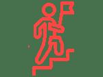 Leadership training icon red