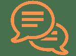 One on one coaching icon orange