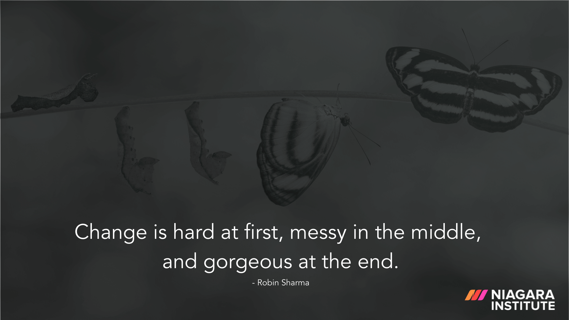 Change is hard at first, messy in the middle, and gorgeous at the end - Robin Sharma
