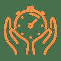 Time Management Icon Orange