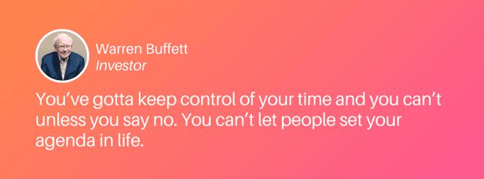 Time management quote from Warren Buffett (1)